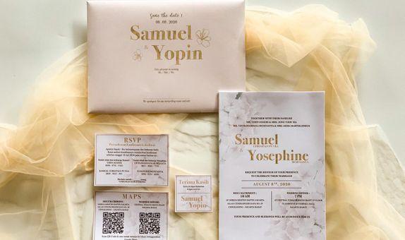Undangan Pernikahan Flower Single Hardcover - Samuel & Yopin