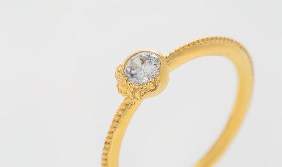 Corsage Ring - 18K Gold