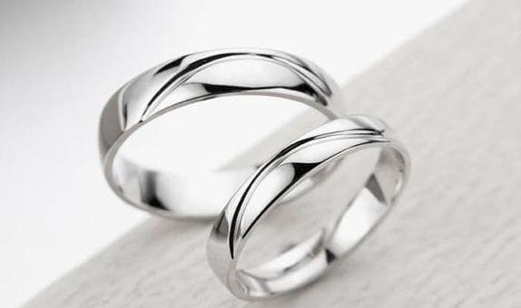 TIARIA River Platinum Wedding Ring Perhiasan Platinum CIncin Nikah