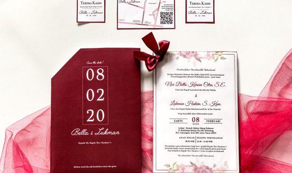 Bella & Lukman's Wedding Invitation - Single Hardcover