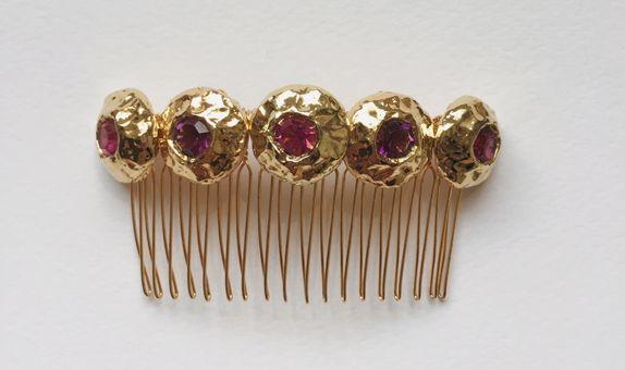 OFELIA Fuchsia Gold Comb