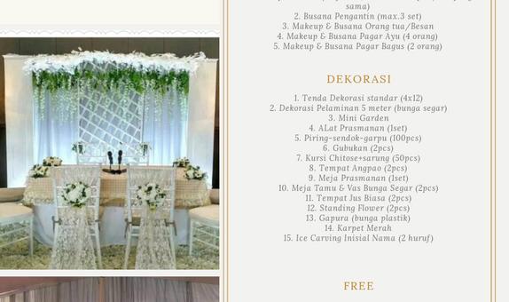 Paket Pernikahan di Rumah