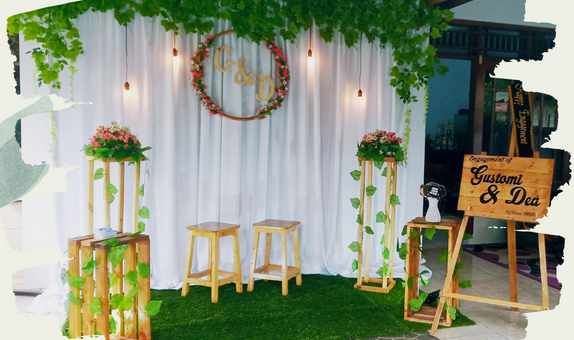 Decoration for engagement & wedding