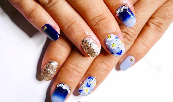 Pixie Dust Nail - Flower navy