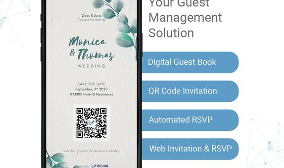 Digital Guest Book with WhatsApp Invitation