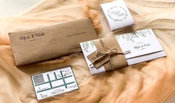 Undangan pernikahan Mick & Tash - Softcover lipat
