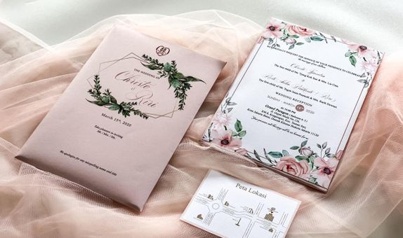 Undangan pernikahan Christo & Riri - Single Hardcover