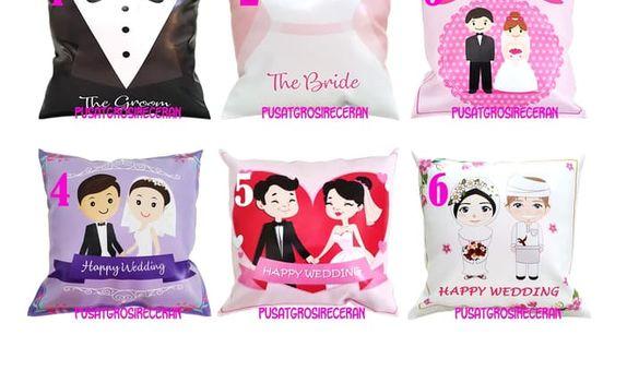 Bantal Souvenir Wedding Kado Hadiah Suvenir Pernikahan Cushion Dacron