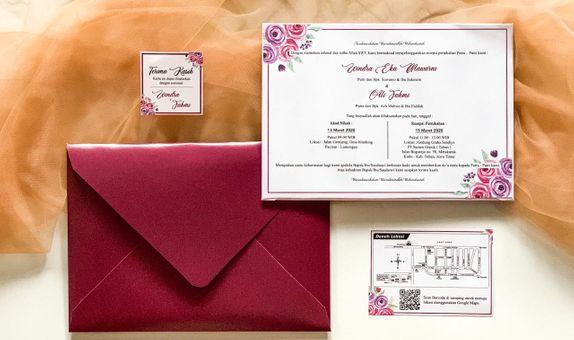 Windra & Fahmi's Wedding Invitation - Single Hardcover