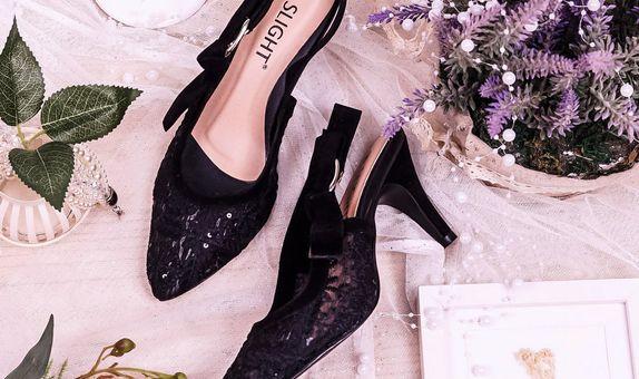 Sepatu Slingback Lacie Hitam