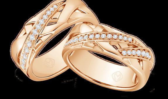 DP TEX SAVERIO METAL COLLECTION DIAMOND WEDDING RING (BRIDE'S RING)