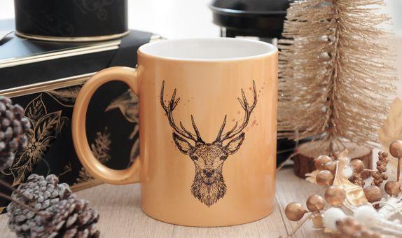 Gold & silver mug - Mug 011