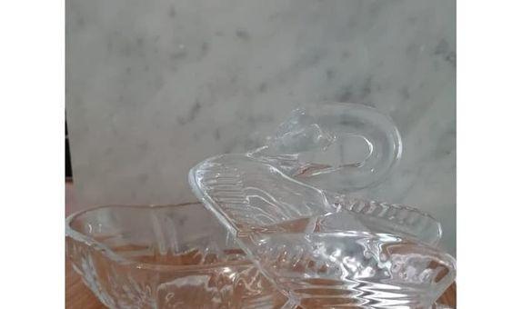Crystal Jar White Swan TG38 / Candy Jar / Toples Kaca/ Jar Kaca