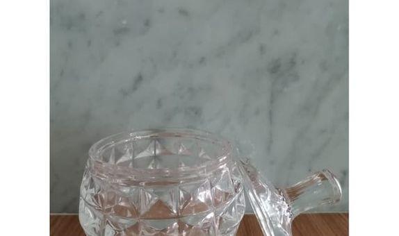 Crystal Jar Glowing Castle TG12-5 / Candy Jar / Toples Kaca / Jar Kaca