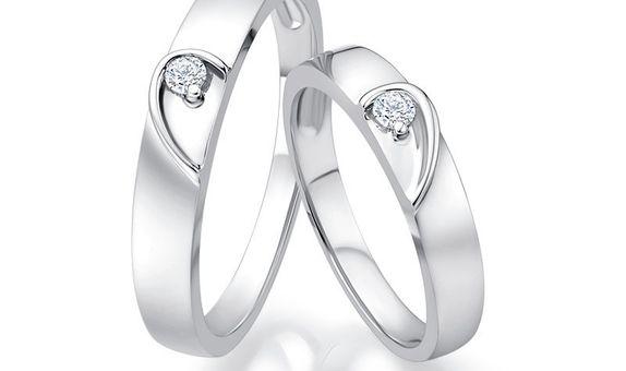TIARIA Angel Heart Diamond Wedding Ring Perhiasan Emas CIncin Nikah