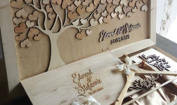 Camelia - Bride & Groom Package by WoodLove