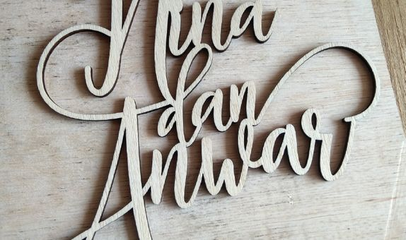 Cake Topper by WoodLove