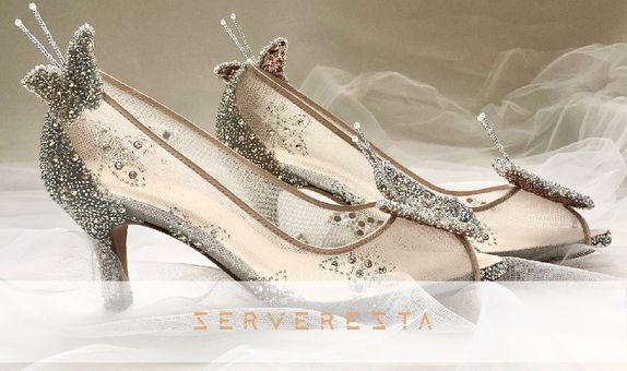 AVE - SILVER - 7cm - Wedding Shoes - Bride Shoes - Party Shoes
