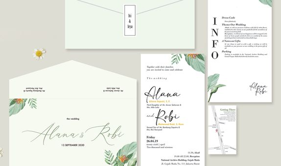 Rustic Theme Wedding Invitation