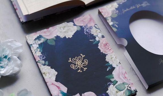 Floral Navy Blue - Notebook Souvenir