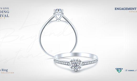 Adelle Jewellery Amorita I Promise - Diamond Ring - Cincin Tunangan