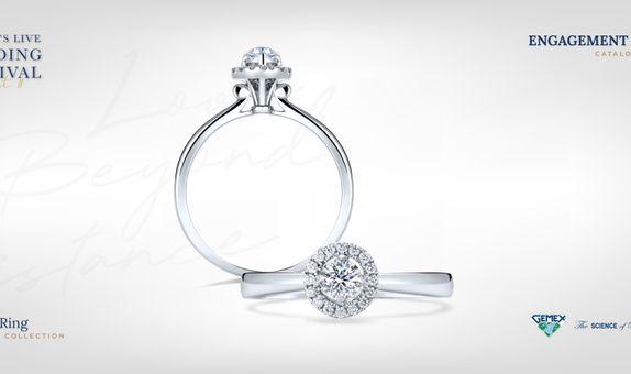Adelle Jewellery Sonata I Promise - Diamond Ring - Cincin Tunangan