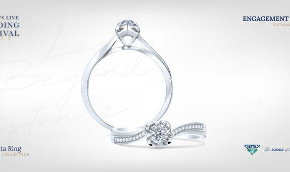 Adelle Jewellery Diamanta I Promise - Diamond Ring - Cincin Tunangan