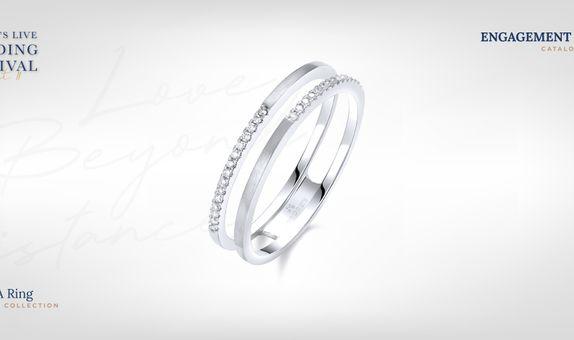Adelle Jewellery Jacket A I Promise - Diamond Ring - Cincin Tunangan