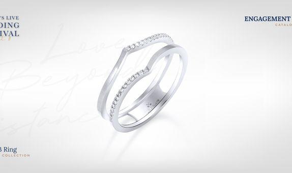 Adelle Jewellery Jacket B I Promise - Diamond Ring - Cincin Tunangan