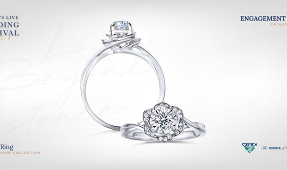 Adelle Jewellery Rosalia Rose D'Amour Solitaire Ring - Cincin Tunangan