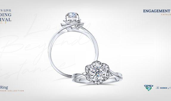 Adelle Jewellery Rosalia Rose D'Amour Solitaire Ring - Cincin Tunangan
