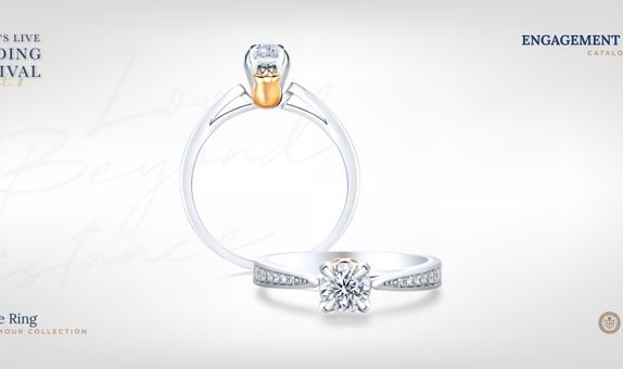 Adelle Jewellery Beatrice Rose D'Amour Solitaire Ring-Cincin Tunangan