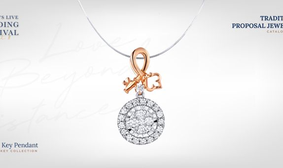 Adelle Jewellery Key Diamond Pendant - Liontin Berlian