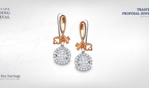 Adelle Jewellery Diamond Earring - Anting Berlian