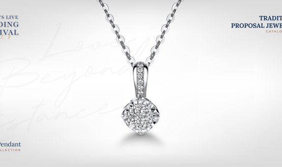 Adelle Jewellery Casey Diamond Pendant - Liontin Berlian