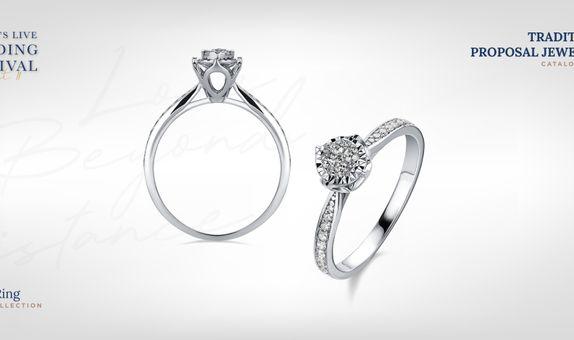 Adelle Jewellery Casey Diamond Ring - Cincin Berlian