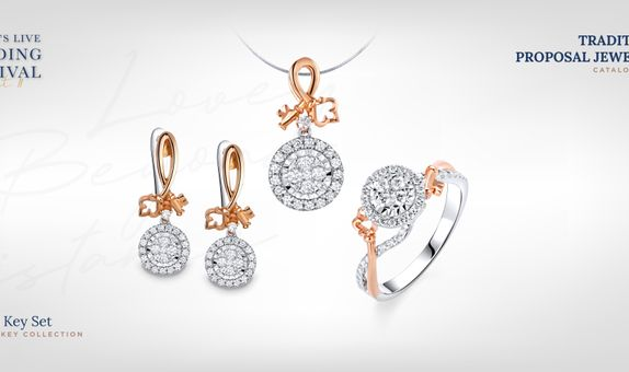 Adelle Jewellery Key Set Collection - Set Perhiasan Berlian
