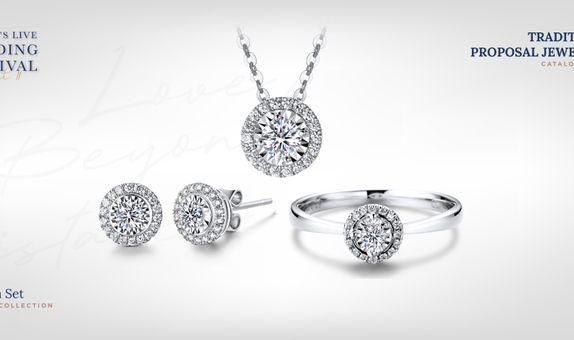 Adelle Jewellery Chelsea Set Collection - Set Perhiasan Berlian