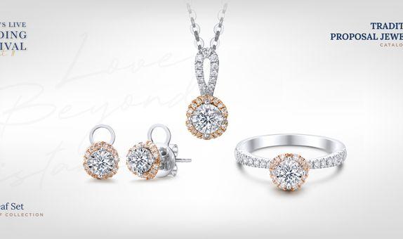 Adelle Jewellery Love Leaf Set Collection - Set Perhiasan Berlian