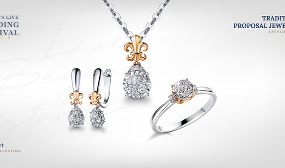 Adelle Jewellery Lilith Set Collection - Set Perhiasan Berlian