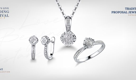Adelle Jewellery Casey Set Collection - Set Perhiasan Berlian