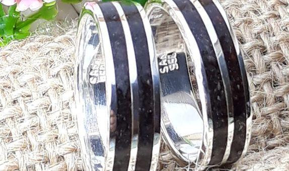 cincin kawin palladium custom kayu