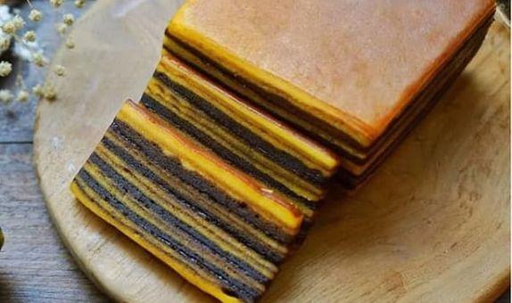 Lapis Legit Chocolate ukuran Quarter 10 x 10 cm