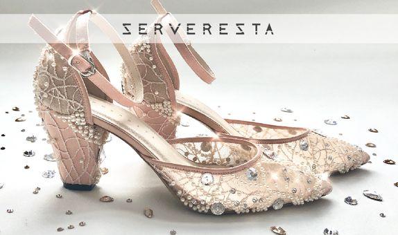 COLETTE - NUDE - 7cm - Wedding Shoes - Bride Shoes - Party Shoes