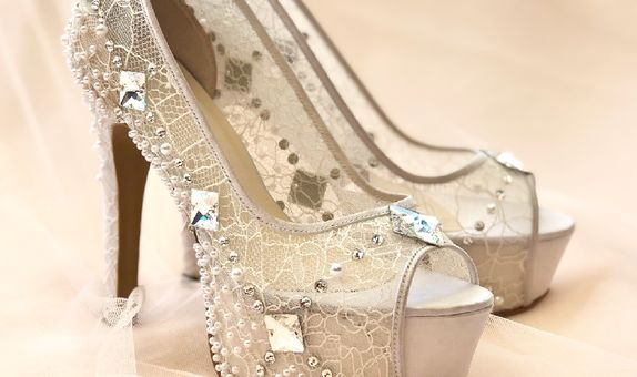 DHYNE - WHITE - 12cm - Wedding Shoes - Bride Shoes - Party Shoes