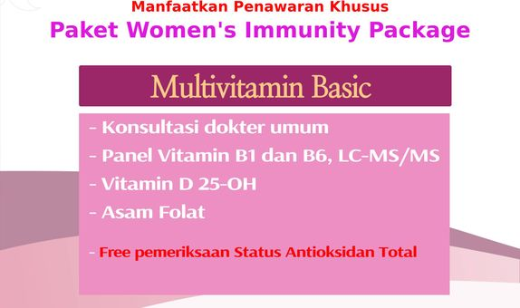 Check Up Women 's Immunity Package - Multivitamin Basic