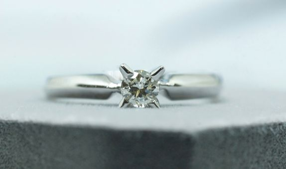 Crystals Jewelry - Solitare ring 0.23 ct