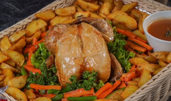 Roast Chicken with Rosemary Sauce