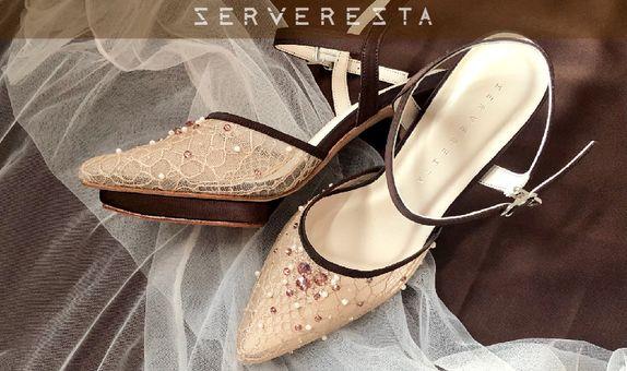 ELOISE - DARK BROWN - 11cm - Wedding Shoes - Bride Shoes - Party Shoes