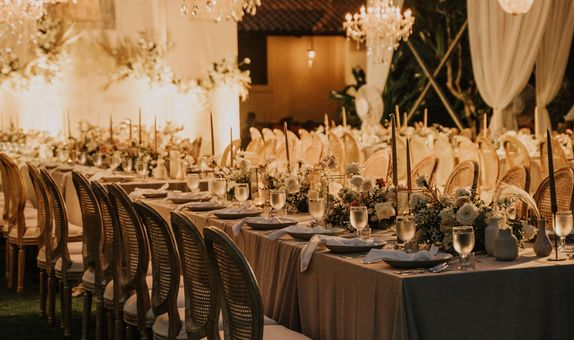 Dinner Reception Decoration (Long Table) - 250 pax